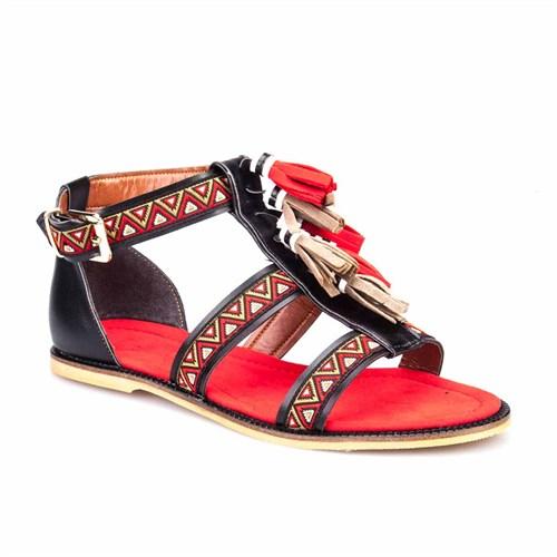 Crunell Kadın Sandalet Kırmızı