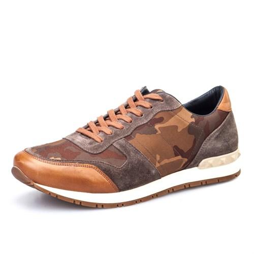 Cabani Kamuflaj Günlük Erkek Ayakkabı Taba Deri