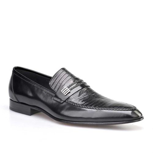 Cabani Tokalı Klasik Erkek Ayakkabı Siyah Açma Deri