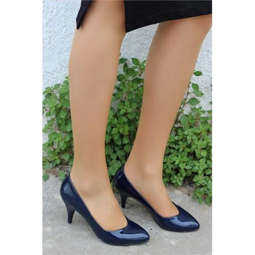 Pembe Potin Helena Lacivert Rugan Ayakkabı