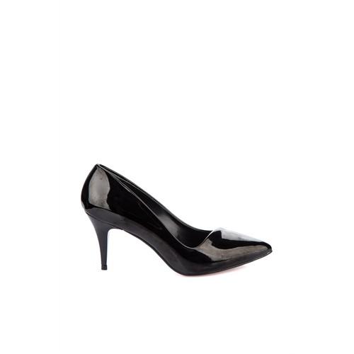 Pembe Potin Stella Siyah Rugan Ayakkabı