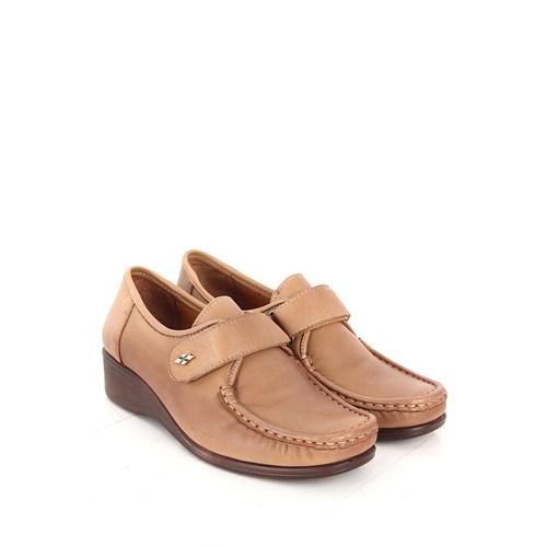 Gön Deri Kadın Ayakkabı 35124 Kum Antik