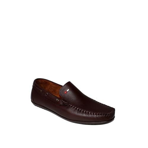 Sezer Kundura Ayakkabı Kahverengi Günlük Deri Erkek Ayakkabı - 106