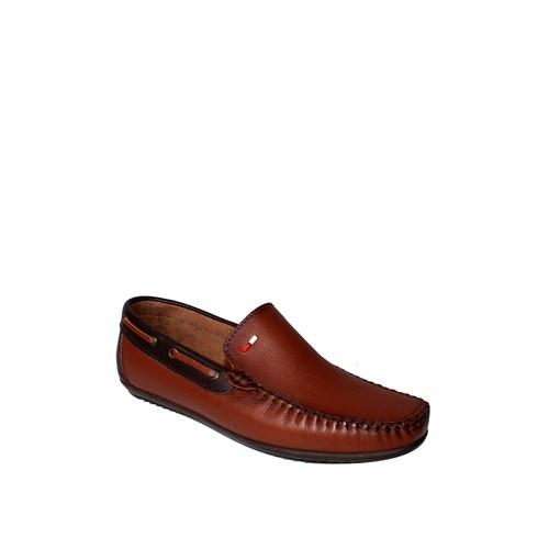 Sezer Kundura Ayakkabı Taba Günlük Deri Erkek Ayakkabı - 106