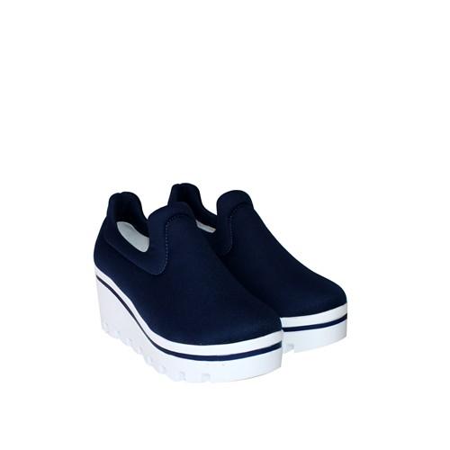 Oflaz Lacivert Spor Streç Kadın Ayakkabı - Y760