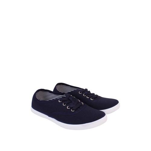 Altınbaş Ayakkabı Lacivert Bağlı Keten Zenne Ayakkabı - 18802