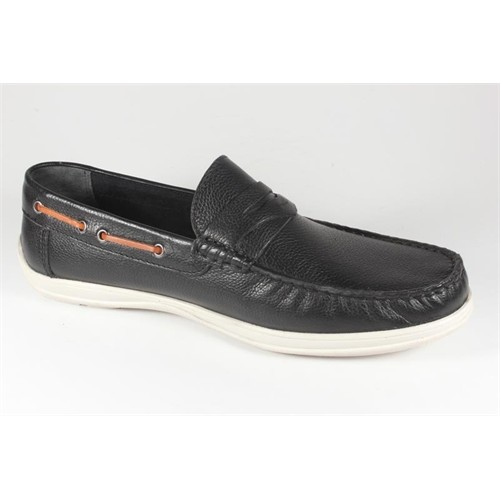 Commodore 218-10-064-02 Siyah Deri Erkek Ayakkabı