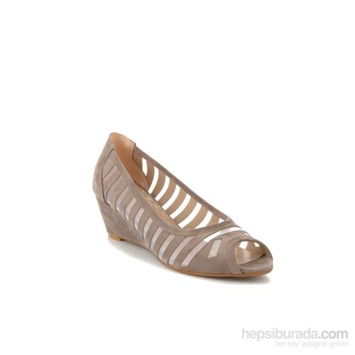Bambi Kadın Topuklu Ayakkabı Vizon