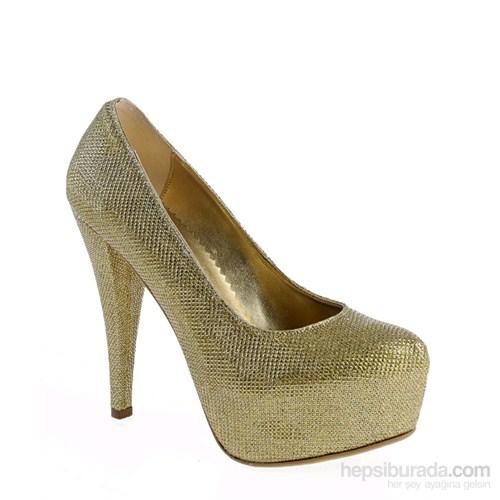 Derigo Kadın Topuklu Ayakkabı Dore Sim