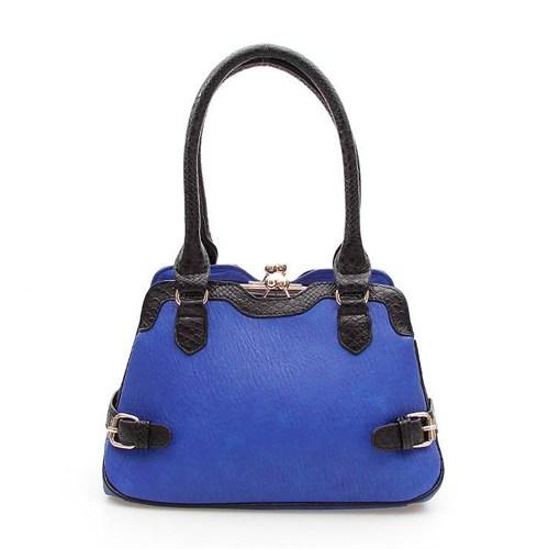 Rosa 58880 Blue-Black Bayan Çanta