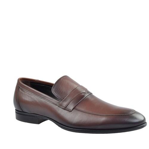 Cabani Tokalı Günlük Erkek Ayakkabı Kahve Deri