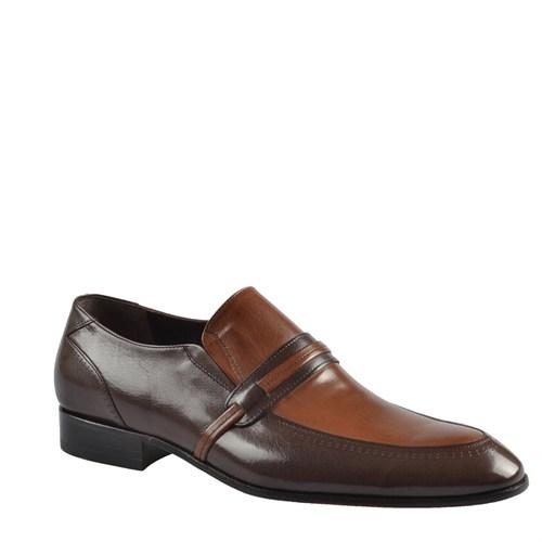 Cabani Kemerli Klasik Erkek Ayakkabı Kahve Buffalo Deri