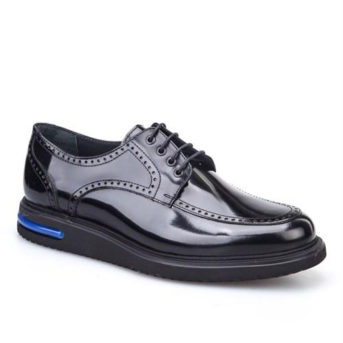 Cabani Oxford Günlük Erkek Ayakkabı Siyah Açma Deri