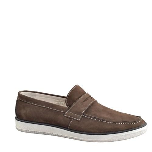 Cabani Bağcıksız Günlük Erkek Ayakkabı Kahve Nubuk