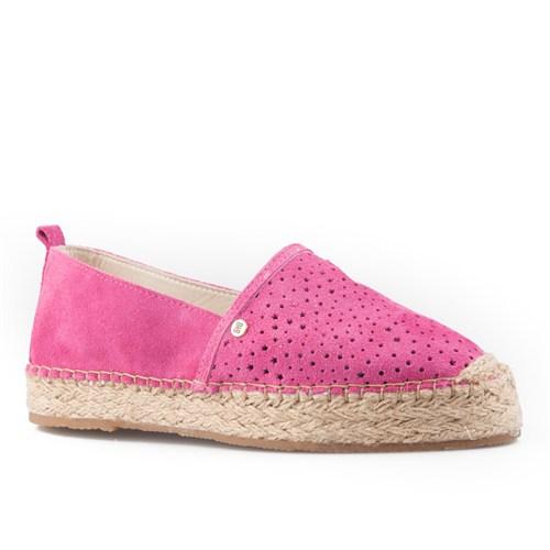 Cabani Yıldız Desenli Günlük Kadın Ayakkabı Pembe Süet