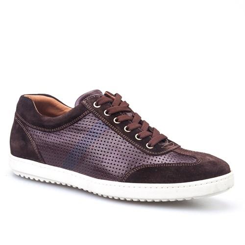 Cabani Bağcıklı Spor Günlük Erkek Ayakkabı Kahve Napa Deri