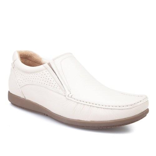 Cabani Bağcıksız Günlük Erkek Ayakkabı Bej Kırma Deri