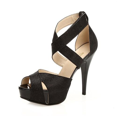 Sothe MAS-013 Siyah Bayan Platformlu Ayakkabı