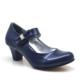 Sarıkaya Abiye Lacivert Taşlı Fiyonklu Rugan Topuklu Kız Çocuk Ayakkabı