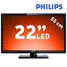 "Philips 22PFL2908H 22"" UsbMovie FULL HD LED TV"