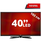 "Vestel 40PF7070-7120 40"" 400Hz DLNA Uydu Alıcılı UsbMovie FULL HD SMART LED TV"