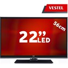 "Vestel 22VF3025 22"" UsbMovie FULL HD LED TV ( Dahili Askı Aparatı)"