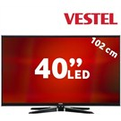 "Vestel 40PF7120 40"" 400Hz DLNA Uydu Alıcılı UsbMovie FULL HD SMART LED TV"