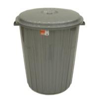Stor Çöp Kovası Kapaklı Plastik 50 Lt Gri