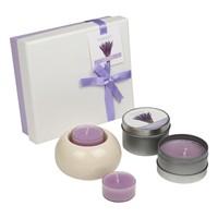 Hepsi Dahice Aroma Diffuser Set Metal Mum Tealight Lavender