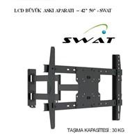 Swat 50 '' Lcd Plasma Led Tv Çift Kollu Hareketli Duvar Askı Aparatı