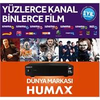 FİLBOX'lı HUMAX (HD Uydu Platformu) + 1 Yıllık Üyelik