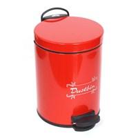 T-Design Pedallı Çöp Kovası 12 Lt Kırmızı