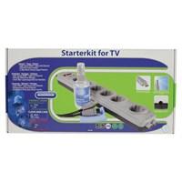 Bandridge Akım Korumalı Priz + HDMI Kablo + Temizleme Spreyi
