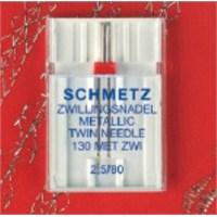 Schmetz Metalik İplikler İçin Çift İğne 2,5 mm İğne Aralığı 80 Numara Tekli Paket