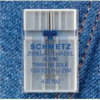 Schmetz Kot Kumaşlar İçin Çift İğne 4 mm İğne Aralığı 75 Numara Tekli Paket