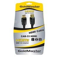 Goldmaster CAB-33 Full HD 3D Altın Uçlu HDMI Kablo (3 metre)