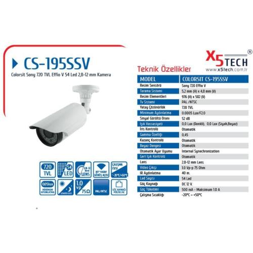 Colorsit Cs-195Ssv 1-3 Sony Effio-V663 720Tvl 960H