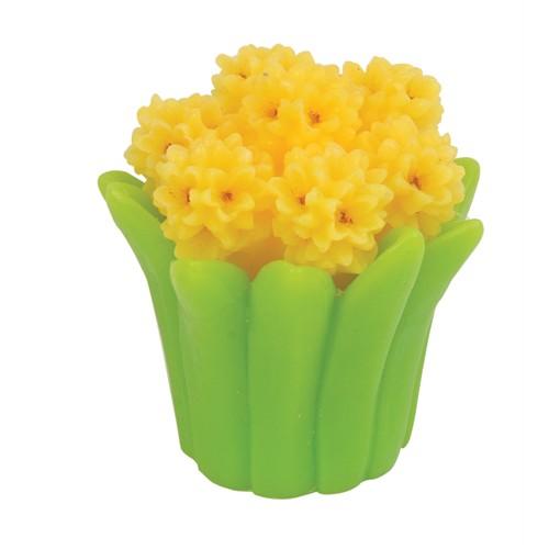 Hepsi Dahice Fun Candle Led Sümbül Sarı Küçük H8.5Cm