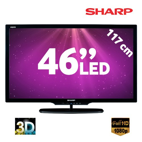 "Sharp LC46LE732E 46"" AQUOS 3D LED TV"