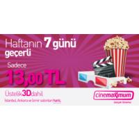 Tüm Cinemaximum'lar – 3D Dahil (İstanbul, Ankara, İzmir Hariç -) - Sinema Bileti
