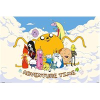 Adventure Time Clouds Mini Poster