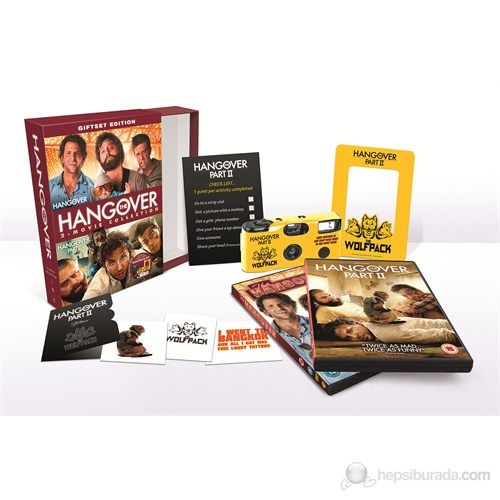 Hangover Wolfpack Set Collection (Felekten Bir Gece Koleksiyon) (2 Disc)