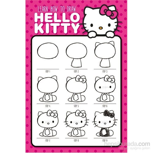Maxi Poster Hello Kitty How To Draw