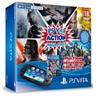 Playstation Vita Wi-Fi Mega Pack ( Batman Black Gate + Injustice God Among Us + Killzone Liberation + Allstars Battle + God Of War Chains Of Olympus + 8 GB Memory Card )