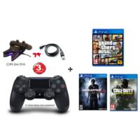 Gta 5 + Uncharted 4 (Türkçe Dublaj) + Call Of Duty: Infinite Warfare + Sony V2 Ps4 Kol + Çiftli Şarj Kiti + Usb Şarj Kablosu