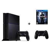 Sony Playstation 4 500Gb Oyun Konsolu + Uncharted 4 ( Türkçe Dublaj ) + 2. Kol