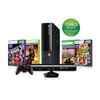 Xbox 360 250 GB Konsol + Kinect Sensör + Gears Of War 2 + Dance Central 3 + Kinect Adventures + Forza Horizon