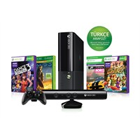 Xbox 360 250 GB Konsol + Kinect Sensör + Halo 3 + Dance Central 3 + Kinect Adventures + Forza Horizon