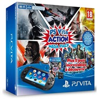Playstation Vita Wi-Fi Mega Pack  ( Batman Black Gate + Injustice God Among Us + Killzone Liberation  + Allstars Battle + God Of War Chains Of Olympus + 8 GB Memory Card )