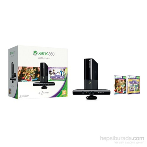 Microsoft Xbox 360 500 gb + Kinect Sensör + Kinect Sports Ultimate + Kinect Adventures